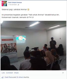 Tim Hati untuk Ammar sharing di kampus