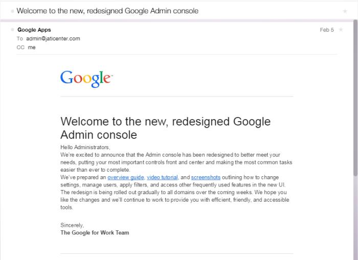Email dari Google Apps